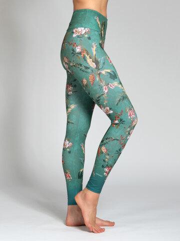 Yoga Leggings Secret Garden aus Komfort-Stretch