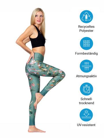 Secret Garden Yoga Leggings imprimés avec une poche intégrée L