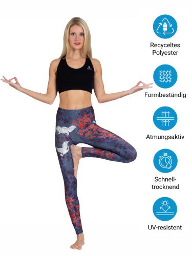 Happy Birds Leggings with comfort stretch and pocket