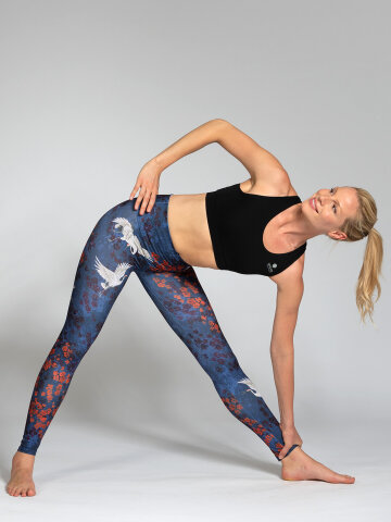 Yoga Leggings Happy Birds aus Komfort-Stretch