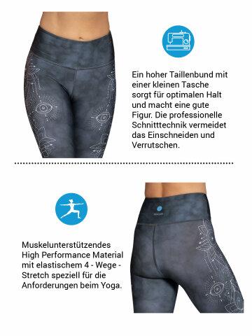 Symbols Yoga Leggings imprimés avec une poche intégrée