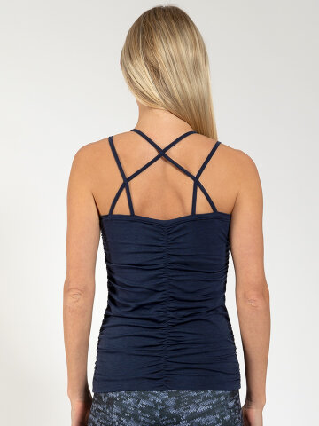 Yoga Top Julia Navy aus Naturmaterial