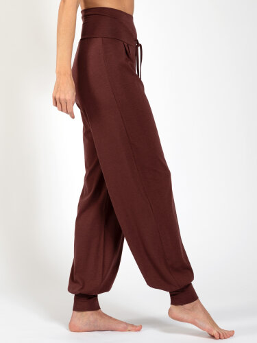 Yoga pants Florence brown made of natural material