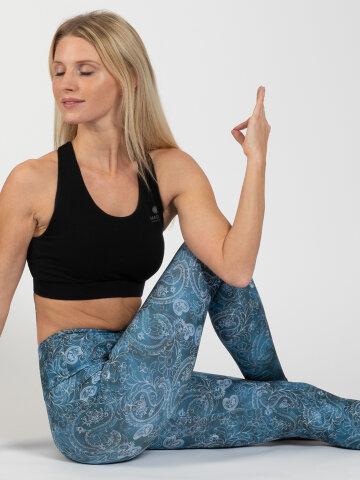 Yoga Leggings Arabeske aus Komfort-Stretch L