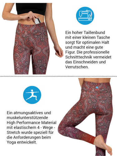 Ornament Leggings made of comfort stretch and with pocket