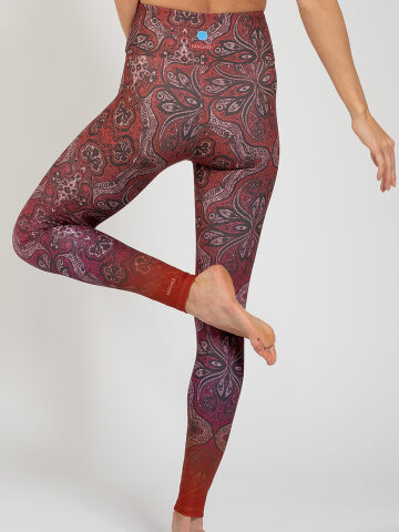 Ornament Leggings aus Komfort-Stretch mit Tasche