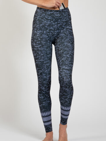 Texture Leggings made of comfort stretch and with pocket