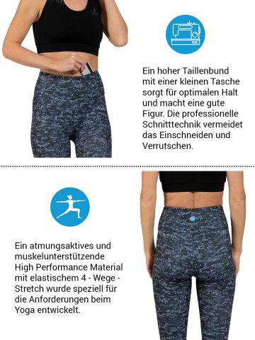 Texture Leggings en stretch confort avec poche