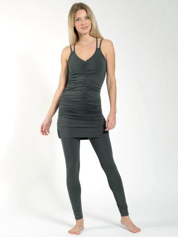Yoga Skirt Leggings Lara Khaki aus Naturmaterial