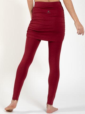 yoga skirt leggings Lara Red made of natural material