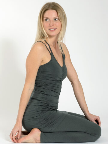 yoga top Julia Khaki en matière naturelle