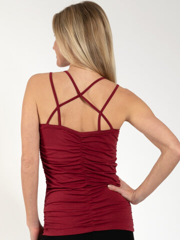 Yoga Top Julia Red aus Naturmaterial