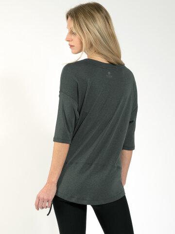 yoga shirt Sara Khaki en matière naturelle