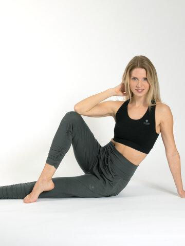 Yogahose Francis Khaki aus Naturmaterial
