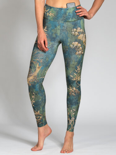 Camo Leggings aus Funktionsmaterial