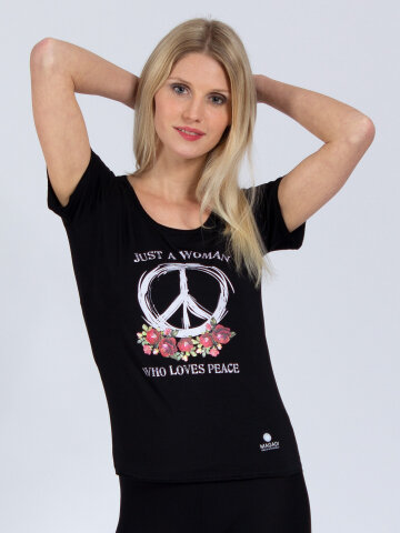 T-Shirt Peace Noir