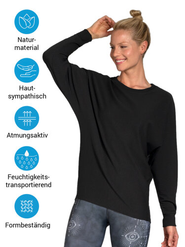 Sweater Anna Black made of soft, high-quality natural material