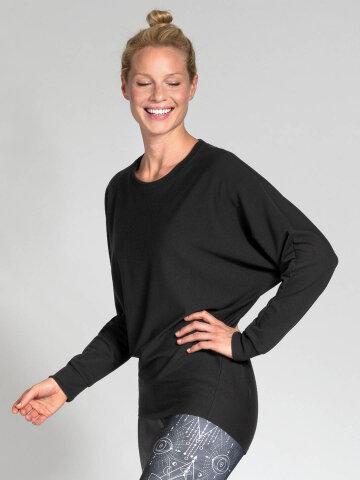 Sweater Anna Black en matériau naturel doux et de...