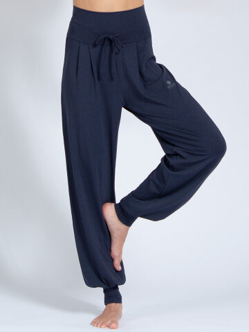 Yoga pants Florence Navy made of natural material