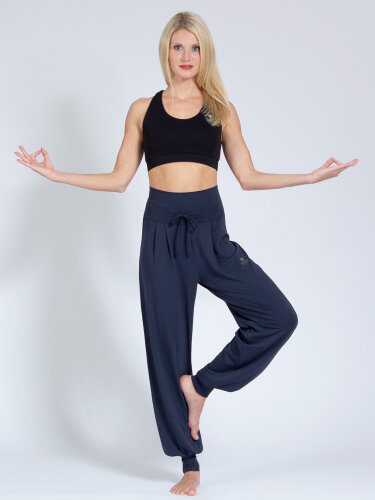 Yoga pants Florence Navy made of soft high-quality natural material