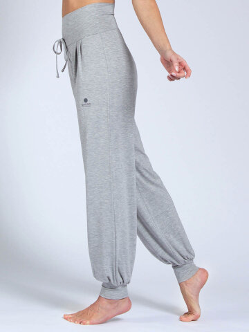 Pantalon de yoga Florence Grey en matériau naturel