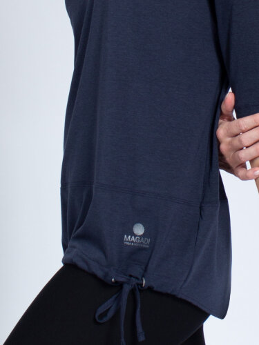 Yoga Shirt Sara Navy made of soft high-quality natural material