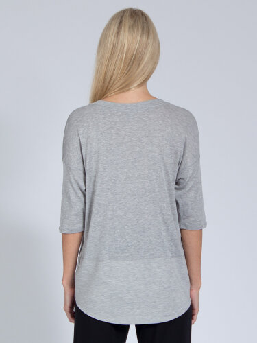 Yoga Top Sara Grey made of soft high-quality natural material