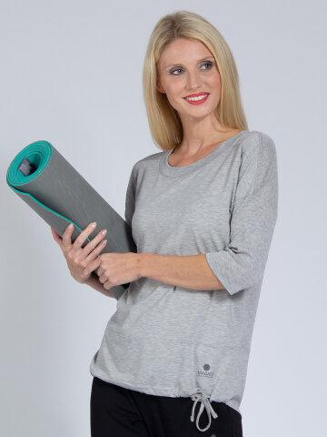Yoga Top Sara Grey made of natural material