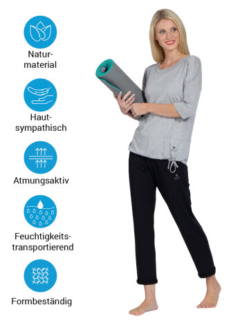Chemise de yoga Sara Grey en matériau naturel