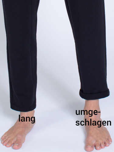 Yoga pants Mela Black made of soft, high-quality natural material