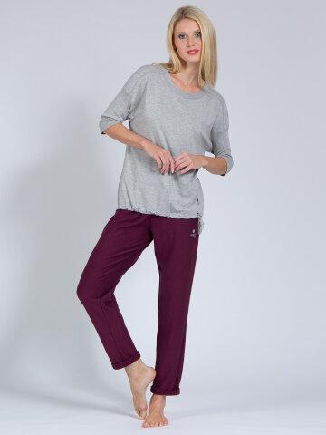 Yoga pants Mela Wine made of natural material